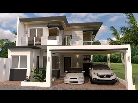 50 fachadas de casas modernas para construir doovi for Casa moderna minimalista interior 6m x 12 50 m
