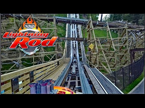 Lightning Rod HD Front Seat On Ride POV & Review RMC Wood Launch Coaster At Dollywood