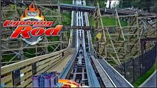 lightning rod hd front seat on ride pov review rmc wood launch coaster at dollywood