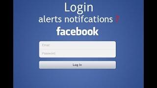 Facebook Login Alerts Mobile Number or Email Notifications (BANGLA TUTORIAL)