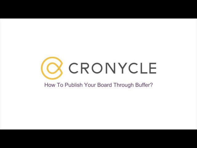 Publish Your Board Through Buffer