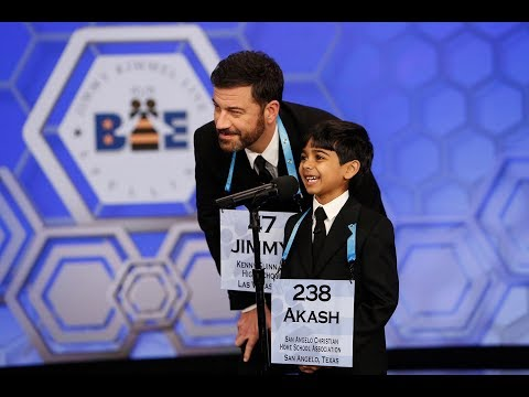 Jimmy Kimmel Live | Jimmy and Akash team up against Scripps National Spelling Bee Champions