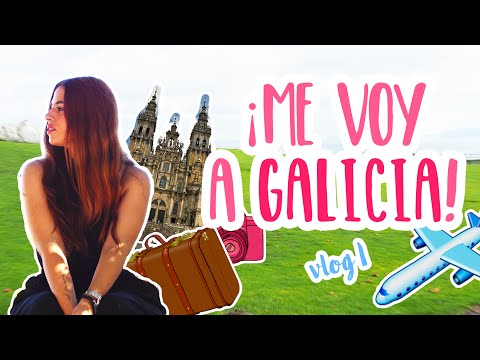 ¡Ven conmigo a Galicia! - Santiago y Coruña / Travel with me (Vlog 1) | Sandra Eme