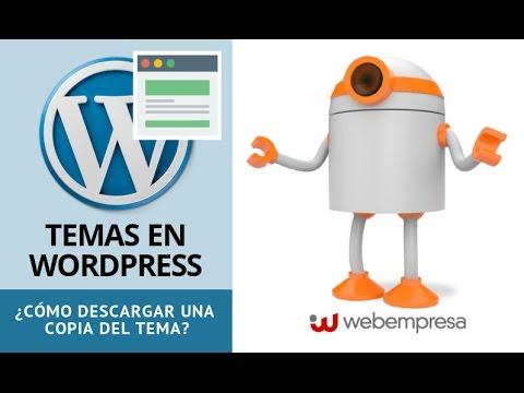 Temas en WordPress ¿cómo descargar una copia del tema desde cPanel ...