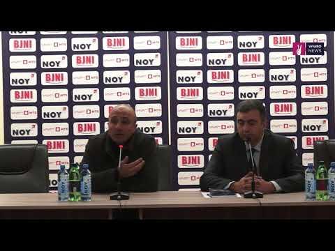 Artur Petrosyan press conference after Armenia - Cyprus
