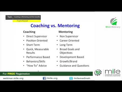Coaching vs Mentoring and their benefits by Frank Russel
