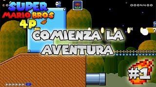 #1 Empezando la aventura | Super Mario 4 Jugadores | luigi2498