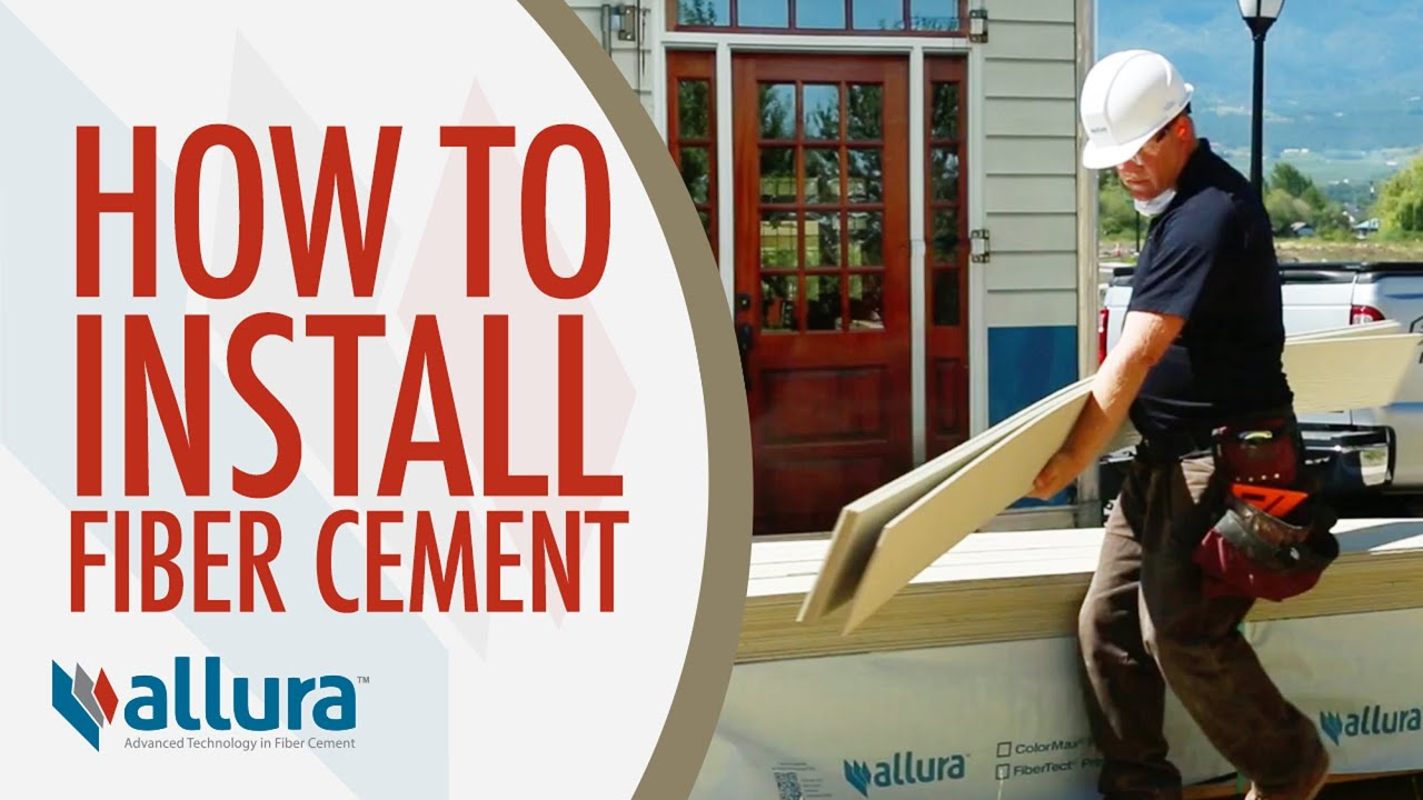 How To Install Fiber Cement Siding Allura Usa Youtube