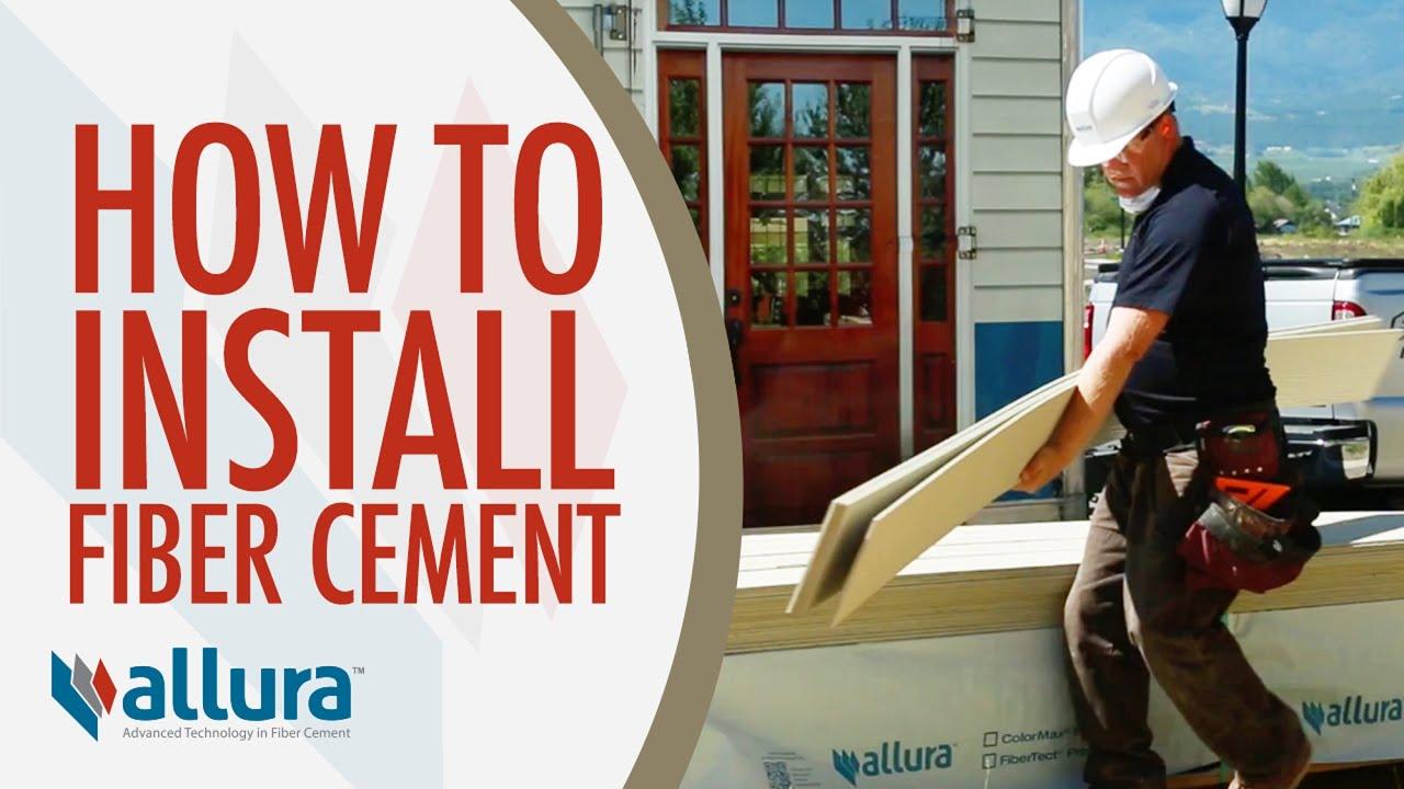 How To Install Fiber Cement Siding  Allura Usa Youtube