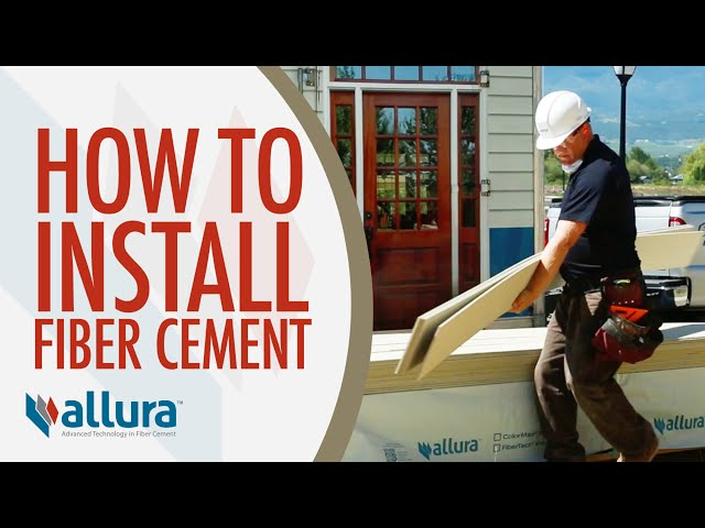 How To Install Fiber Cement Siding - Allura USA