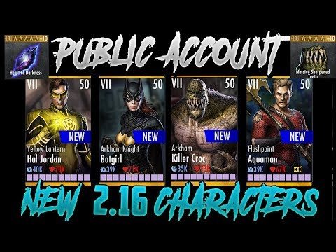 FREE PUBLIC INJUSTICE MAXED OUT ALL GEAR CARDS ACCOUNT 2.19