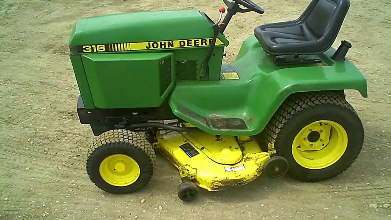 For Sale Clean John Deere 316 Lawn & Garden Tractor w 46
