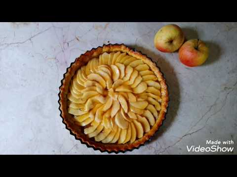 tarte-au-pomme-base-compote-كعكة-التفاح