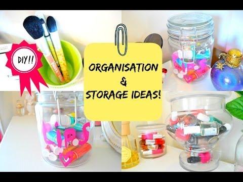 ROOM DECOR: ORGANIZATION AND STORAGE IDEAS WITH JARS + DIY!