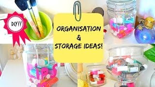 Room Decor: Organization And Storage Ideas With Jars + Diy!