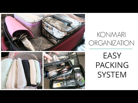 KonMari Organization | How to Pack - Carry-on Travel *TIPS*