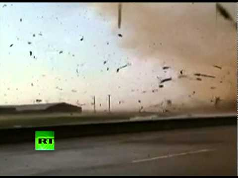 We're In The Tornado! Dramatic inside video of Rice, Texas twister