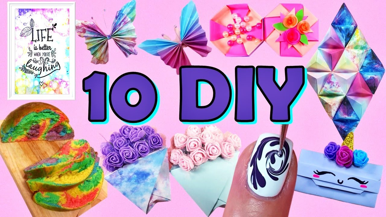 10 Things To Do When You're Bored At Home - Home Decor, Nails, Rainbow Cloud Bread and more...