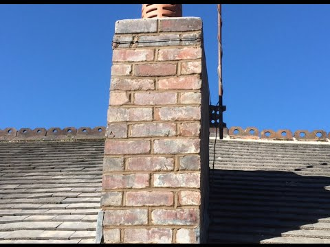 Pointing and repairing a chimney