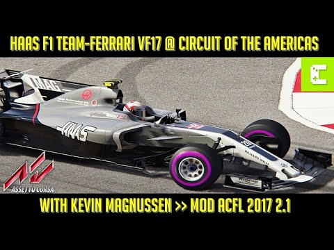 [Assetto Corsa] Haas Formula 1 Team-Ferrari VF17 @ Circuit of the Americas with Kevin Magnussen