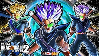 TRUNKS NEW DESIGN GAMEPLAY - Dragon Ball Xenoverse 2 Remix Trunks Gameplay (NEW CLOTHES & ALL FORMS)