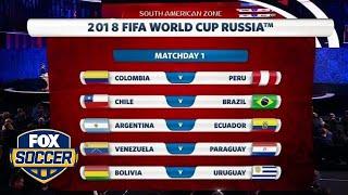 CONMEBOL World Cup 2018 qualifying draw