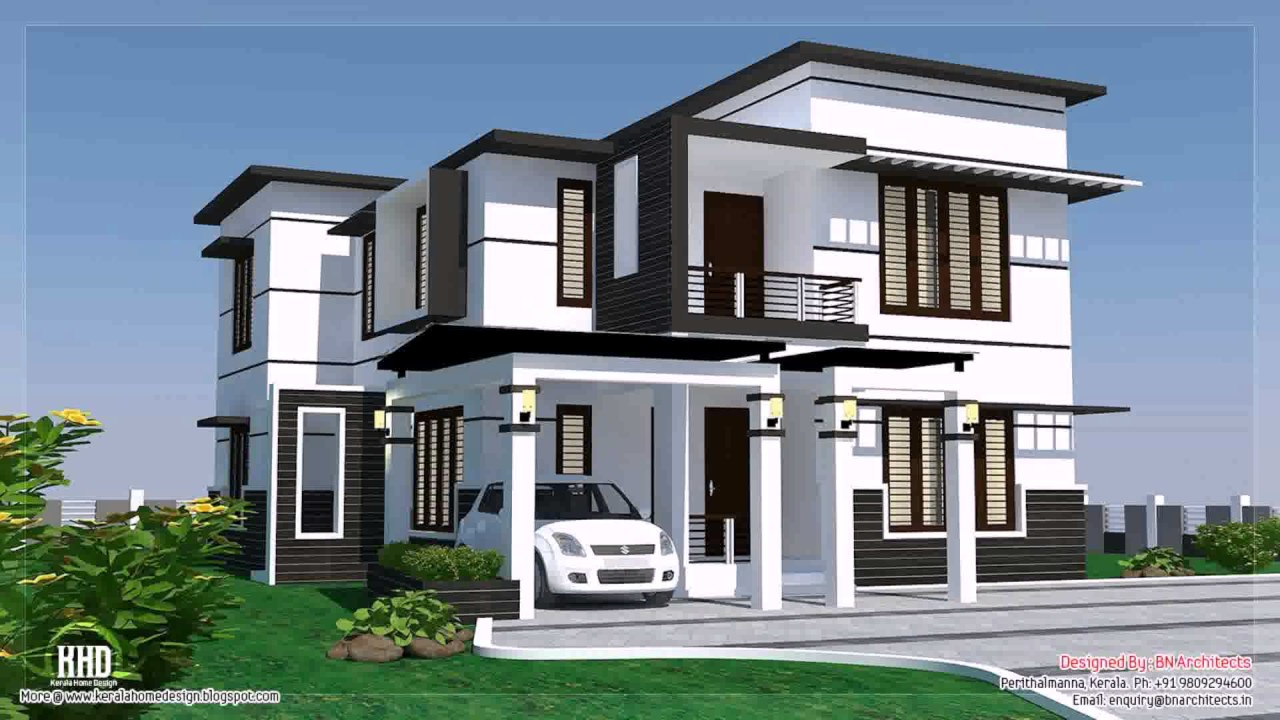 New House Design Front View Youtube