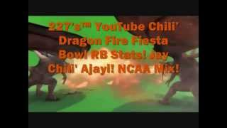227's™ Youtube Chili' Fiesta Bowl Dragon Movie Stats (rb) Boise State Broncos Ncaa Mix!