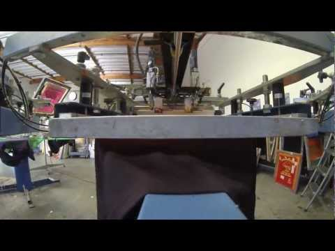 Full Shirt Printing Process w/ GoPro Hero 3 Black & Canon T4i - Spartan Screen Printing - Mike Swick