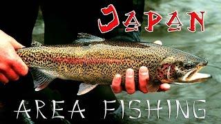 Форелевая рыбалка в Японии. Area fishing in Japan.