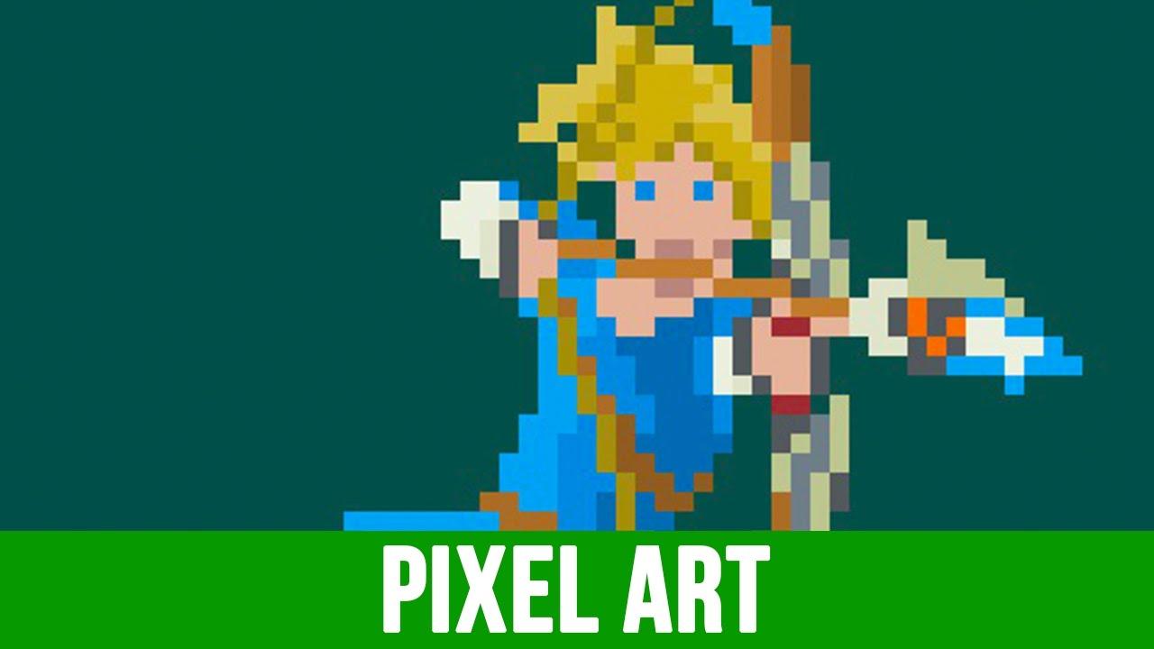 Link (Breath of The Wild) - Pixel Art Timelapse | Capetla - YouTube