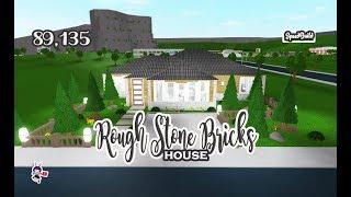 ROBLOX │Bloxburg - [SpeedBuild] Rough Stone Bricks House