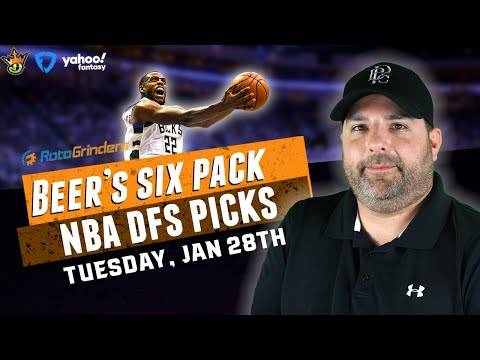DRAFTKINGS NBA DFS PICKS FOR 1-28-20 I THE DAILY FANTASY 6 PACK