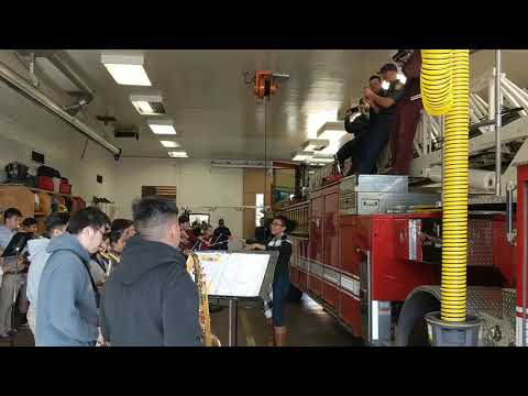 Bishop Alemany High School Band Fire Station 75 Performance