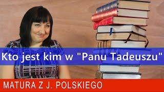 """145. Kto jest kim w """"Panu Tadeuszu"""" Adama Mickiewicza? Matura z polskiego:)"""