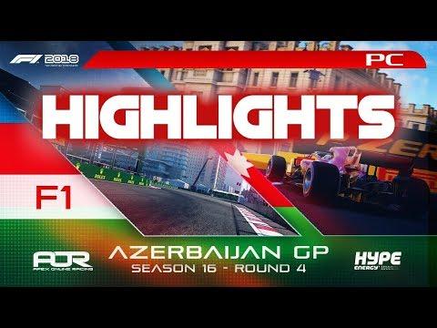 Highlights: F1 2018 | AOR Hype Energy S16 PC F1 | R4: Azerbaijan GP