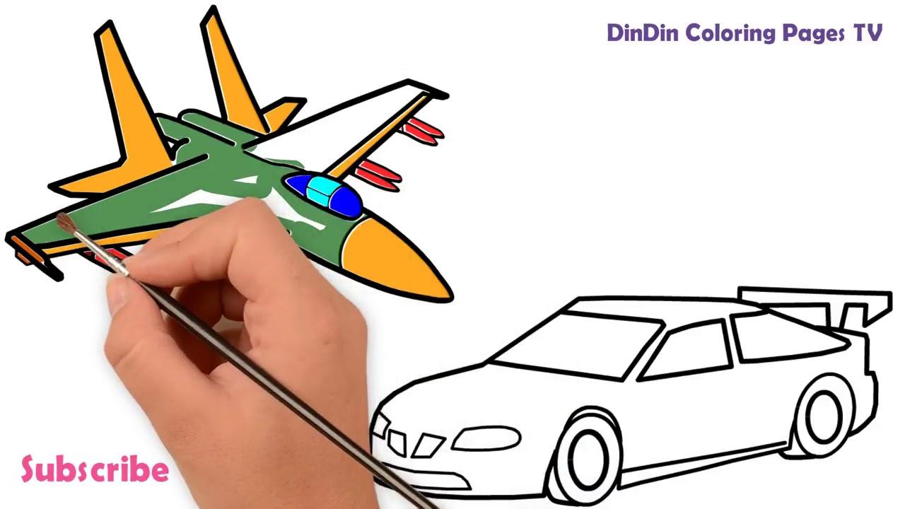 Wie Zeichnet Man Flugzeuge Und Auto Flugzeuge Malvorlagen Für Kinder Car Für Kleinkinder