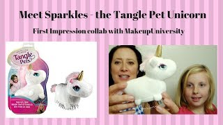 Tangle Pets - Meet Sparkle the Unicorn collab with Adventures of Bellan & Tenney