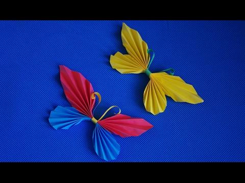 Объемные бабочки из бумаги своими руками. Украшаем комнату. Декор на стену.