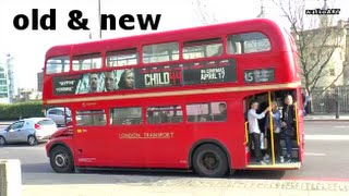 Design Vergleich/Comparison Old + New Routemaster Buses - alte + neue London Busse & Big Ben