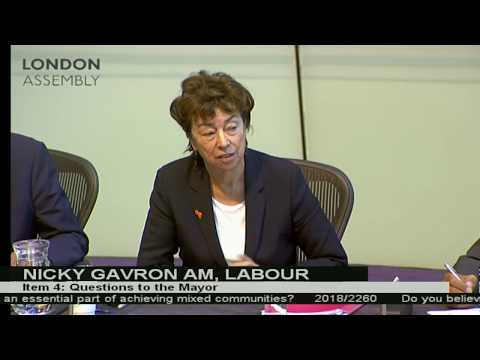 Questioning the Mayor of London about mixed communities and affordable housing