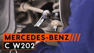 Montáž Čap riadenia MERCEDES-BENZ C-CLASS: video príručky