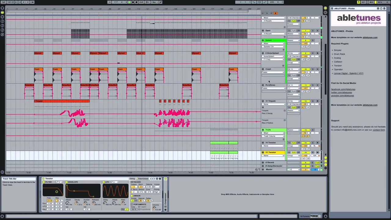 Psy Trance Ableton Live Template Phobia By Abletunes Youtube