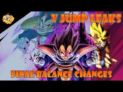 Final Balance Changes V Jump Leaks Dragon Ball Legends DB DBL DBZ