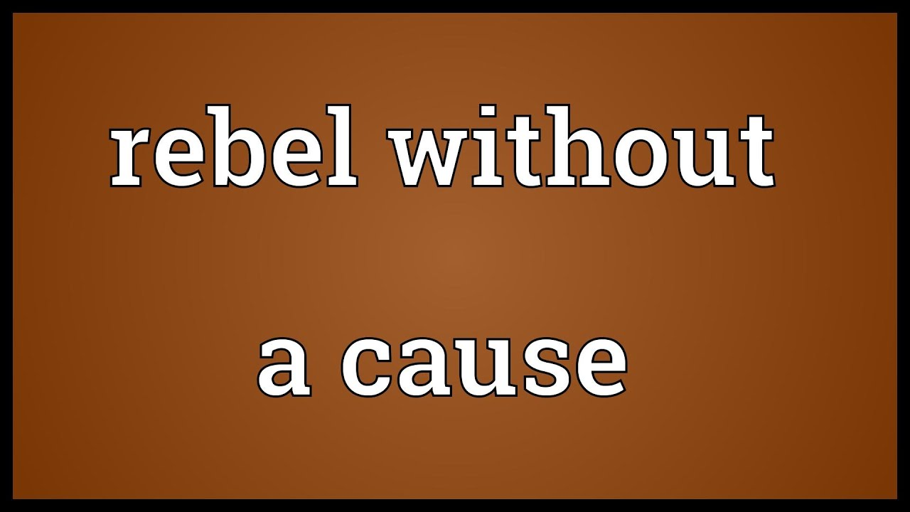 Rebel without a cause Meaning