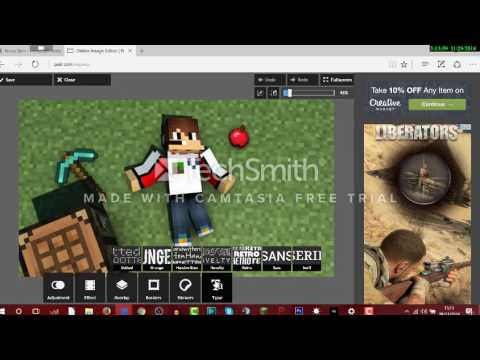 Comment Se Faire Un Fond Décran Minecraft Avec Son Skin