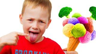 Ты любишь брокколи с мороженным - Детские песенки от Алекс и Настя