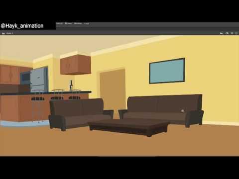 Abo And Karo Living Room Background Creation By Hayk Manukyan | Adobe Animate CC