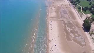 Chicago, Illinois, Montrose Beach fly over with DJI Phantom 3 Drone