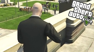 ASSASSINEI O PRESIDENTE! | GTA V (Hitman Mod)